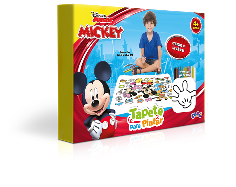 Mickey Tapete Para Pintar Toyster Brinquedos Toyster